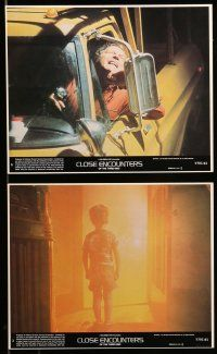 9s073 CLOSE ENCOUNTERS OF THE THIRD KIND 7 8x10 mini LCs '77 Dreyfuss & Truffaut relaxing on set
