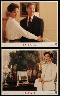 9s032 DAVE 8 8x10 mini LCs '93 Kevin Kline as impostor president, directed by Ivan Reitman!