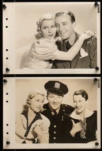 9s284 DOCTOR RHYTHM 10 8x11 key book stills '38 Mary Carlisle smiles at Dr. Bing Crosby playing sax!