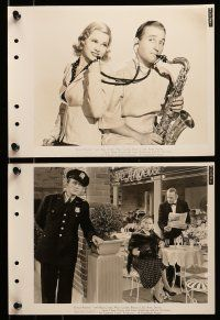 9s324 DOCTOR RHYTHM 9 8x11 key book stills '38 Mary Carlisle smiles at Dr. Bing Crosby playing sax!