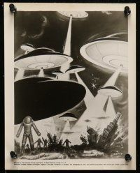 9s370 EARTH VS. THE FLYING SAUCERS 8 8x10 stills '56 Hugh Marlowe, Joan Taylor, sci-fi classic!