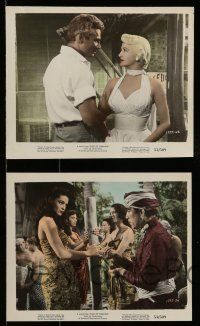 9s098 EAST OF SUMATRA 5 color 8x10 stills '53 great images of Earl Holliman & Jeff Chandler