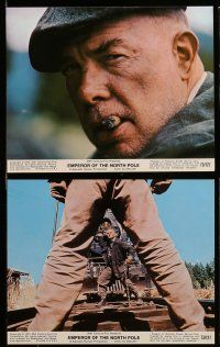 9s036 EMPEROR OF THE NORTH POLE 8 color 8x10 stills '73 Lee Marvin, Ernest Borgnine, cool images!
