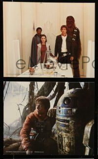9s037 EMPIRE STRIKES BACK 8 color 8x10 stills '80 Lucas, Luke, Darth Vader, Han, Chewie, Leia, R2!