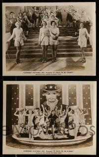 9s742 IT PAYS TO BE FUNNY 4 8x10 stills '47 great wacky images of Milton Berle & sexy women!