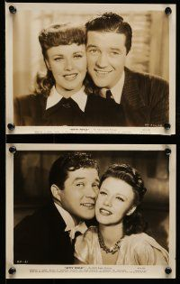 9s533 KITTY FOYLE 6 8x10 stills '40 great romantic images of Ginger Rogers & Dennis Morgan!