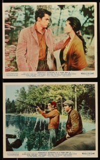 9s017 ADVENTURES OF A YOUNG MAN 8 color English FOH LCs '62 Richard Beymer, DIane Baker, Hemingway