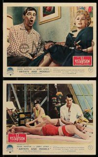 9s095 ARTISTS & MODELS 5 color English FOH LCs '55 Martin & Lewis, MacLaine, Gabor, Malone, Ekberg