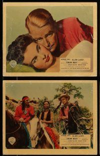 9s086 DRUM BEAT 6 color English FOH LCs '54 Alan Ladd & Native American Audrey Dalton, Delmer Daves