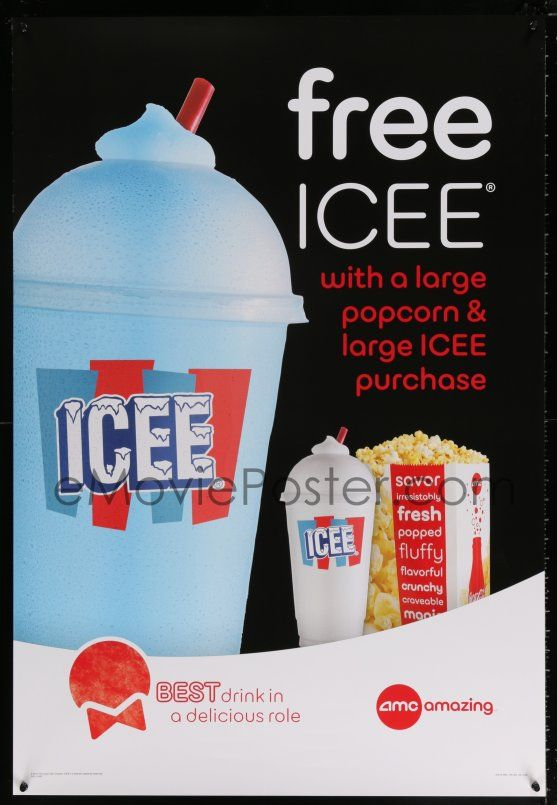 Emovieposter Com 9x118 Amc Theatres Icee Style Ds 27x40 Special 13 Cool Ad From The Movie Theater Chain