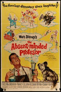 1f009 ABSENT-MINDED PROFESSOR 1sh R67 Walt Disney, Flubber, Fred MacMurray in title role!