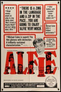 1f018 ALFIE 1sh '66 British cad Michael Caine loves them & leaves them, ask any girl!