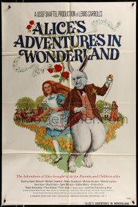 1f020 ALICE'S ADVENTURES IN WONDERLAND 1sh '72 Dudley Moore, Fiona Fullerton in title role