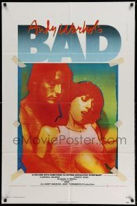 1f025 ANDY WARHOL'S BAD 1sh '77 Carroll Baker, Perry King, sexploitation black comedy!