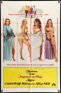 1f031 ANYONE CAN PLAY 1sh '68 sexy Ursula Andress, Virna Lisi, Claudine Auger & Marisa Mell!
