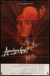 1f033 APOCALYPSE NOW 1sh '79 Francis Ford Coppola, classic Bob Peak art of Marlon Brando!