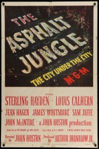 1f039 ASPHALT JUNGLE 1sh '50 Marilyn Monroe, Sterling Hayden, John Huston classic film noir!