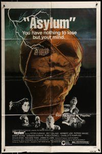 1f040 ASYLUM 1sh '72 Peter Cushing, Britt Ekland, written by Robert Bloch, horror!