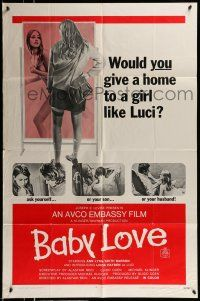 1f043 BABY LOVE 1sh '69 would you give a home to a girl like Luci, a BAD girl!