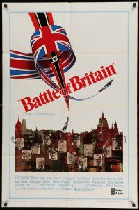 1f058 BATTLE OF BRITAIN style B 1sh '69 all-star cast in classic World War II battle!