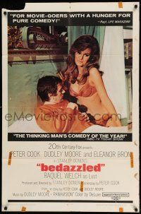 1f060 BEDAZZLED 1sh '68 classic fantasy, Dudley Moore stares at sexy Raquel Welch as Lust!