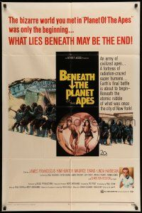 1f065 BENEATH THE PLANET OF THE APES 1sh '70 sci-fi sequel, what lies beneath may be the end!
