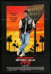 1f068 BEVERLY HILLS COP II 1sh '87 Eddie Murphy is back as Axel Foley, where he doesn't belong!