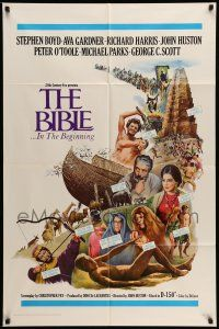 1f070 BIBLE 1sh '67 La Bibbia, John Huston as Noah, Boyd as Nimrod, Ava Gardner as Sarah