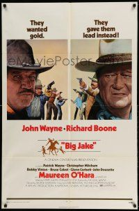 1f073 BIG JAKE 1sh '71 Richard Boone wanted gold but John Wayne gave him lead instead!