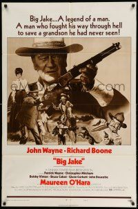 1f074 BIG JAKE style B 1sh '71 John Wayne fought through hell to save a grandson he had never seen!
