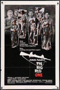 1f075 BIG RED ONE 1sh '80 directed by Samuel Fuller, Lee Marvin, Mark Hamill in WWII!
