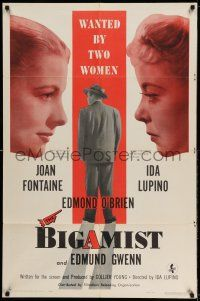 1f078 BIGAMIST 1sh '53 Edmond O'Brien is wanted by Joan Fontaine & Ida Lupino!