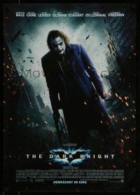 1j036 DARK KNIGHT advance DS German '08 different image of Heath Ledger as The Joker!