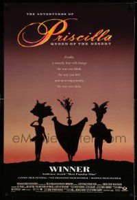 1k023 ADVENTURES OF PRISCILLA QUEEN OF THE DESERT DS 1sh '94 silhouette of Stamp, Weaving, Pearce!