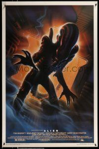 1k030 ALIEN style A Kilian 1sh R94 Ridley Scott outer space classic, cool different Alvin art!