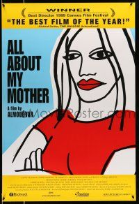 1k035 ALL ABOUT MY MOTHER int'l 1sh '99 Pedro Almodovar's Todo Sobre Mi Madre, cool art by Marine!