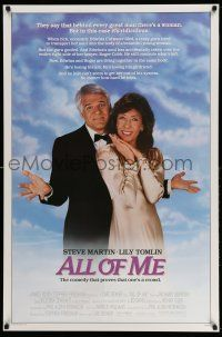 1k036 ALL OF ME 1sh '84 wacky Steve Martin, Lily Tomlin, the comedy that proves one's a crowd!