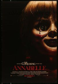 1k050 ANNABELLE int'l advance DS 1sh '14 creepy horror image of possessed doll w/ bloody tear!