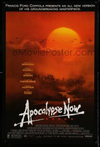 1k053 APOCALYPSE NOW 1sh R01 Francis Ford Coppola, classic Bob Peak art choppers over river