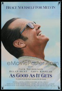 1k055 AS GOOD AS IT GETS DS 1sh '98 great close up smiling image of Jack Nicholson as Melvin!
