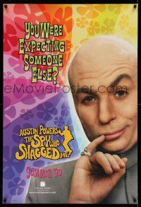1k064 AUSTIN POWERS: THE SPY WHO SHAGGED ME teaser 1sh '97 wacky image of Mike Myers as Dr. Evil!