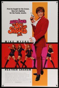 1k062 AUSTIN POWERS: THE SPY WHO SHAGGED ME DS 1sh '97 Myers in title role as Austin Powers!