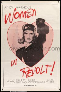 1k001 WOMEN IN REVOLT 1sh '72 Andy Warhol's satirical take on Women's Liberation, Candy Darling!
