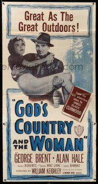 1r789 GOD'S COUNTRY & THE WOMAN 3sh R48 George Brent, Beverly Roberts, James Oliver Curwood