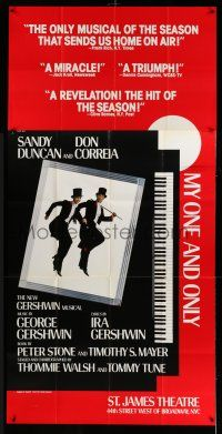 1r853 MY ONE & ONLY stage play 3sh '83 George & Ira Gershwin, Broadway, great Fraver & Duncan art!