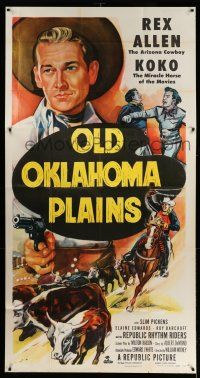 1r860 OLD OKLAHOMA PLAINS 3sh '52 cowboy Rex Allen and Koko the miracle horse of the movies!