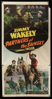 1r864 PARTNERS OF THE SUNSET 3sh '48 singing cowboy Jimmy Wakely with guitar & on horseback!