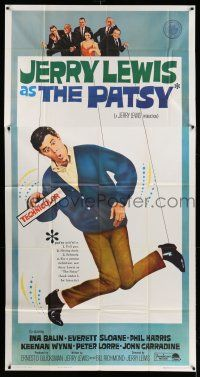1r865 PATSY 3sh '64 wacky image of star & director Jerry Lewis hanging from strings like a puppet!