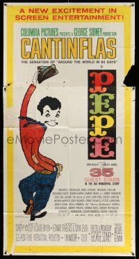 1r869 PEPE 3sh '61 cool full-length art of Cantinflas, starring 35 all-star cast members!