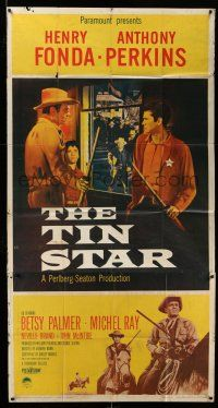 1r956 TIN STAR 3sh '57 cowboys Henry Fonda & Anthony Perkins, directed by Anthony Mann!